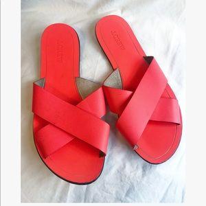 J. Crew Neon orange seaside sandals